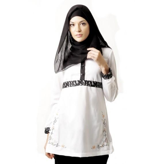 Azkasyah Blus Saida White