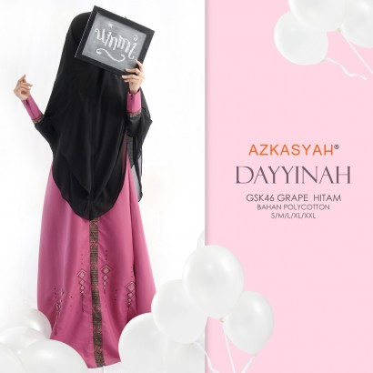 Busana Muslim Gamis Azkasyah Dayinah GSK 46 Grape