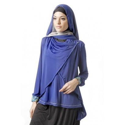 Azkasyah Blus Azzalfa Electric Blue