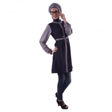 Azkasyah Daily Blouse Navy Grey