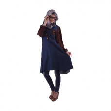 Azkasyah Daily Blouse Dark Navy