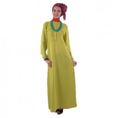 Azkasyah Daily Gamis Stabilo Green