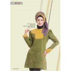 Azkasyah Mixture Blouse Hijau Forest