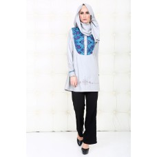 Azkasyah Daily Blus Light Grey
