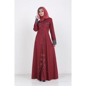Gamis Azkasyah GSK25 Dark Scarlet