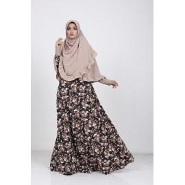 Gamis Hijab Azkasyah G06 Hitam