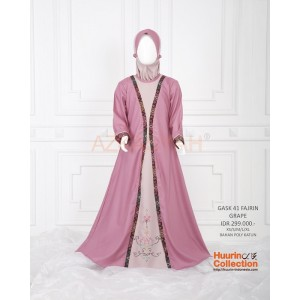 Gamis anak Azkasyah GASK41 Grape