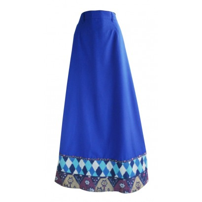 Azkasyah rok ADR01 Dhiya Electric Blue
