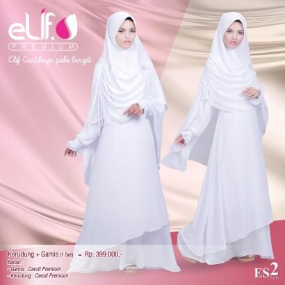 Gamis Elif Premium ES2 Putih