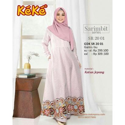 Busana Muslim Wanita Gamis Keke GDK SR 20 01 Dusty Pink