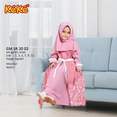 Gamis anak Keke GM SR 20 02 Pink