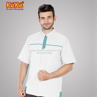 Baju Koko Pria Keke KDP SR 181906 Putih