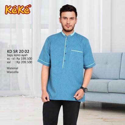 Baju Koko Keke KD SR 20 02 Biru