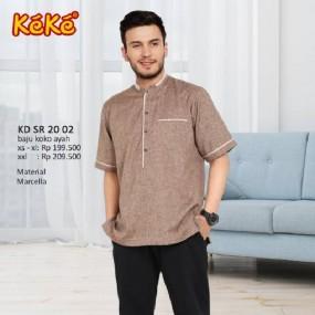 Baju Koko Keke KD SR 20 02 Coklat