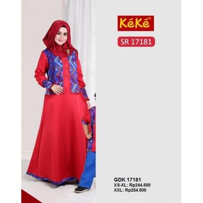 Gamis Keke GDK 17181 Merah