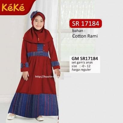 Gamis anak Keke GM SR 17184 Merah