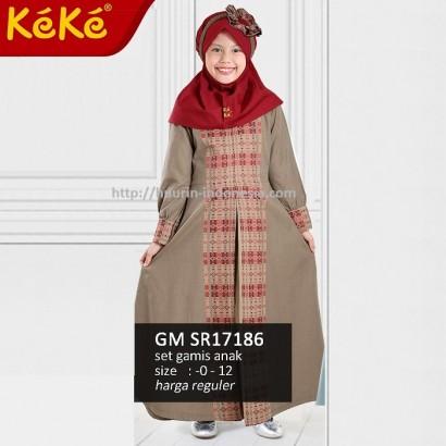 Gamis anak Keke GM SR 17186 Coklat