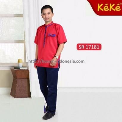 Busana Muslim Pria Koko Keke KD SR 17181 Merah