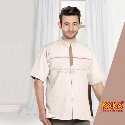 Baju Koko Pria Keke KDP SR 181906 Coklat
