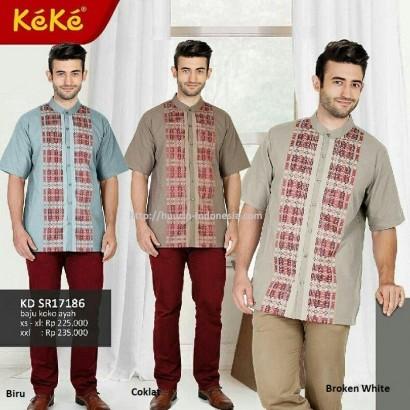 Busana Muslim Pria Koko Keke KD SR 171806 Coklat