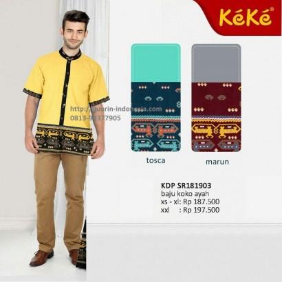 Baju Muslim Pria Koko Keke KDP SR 181903 Kuning