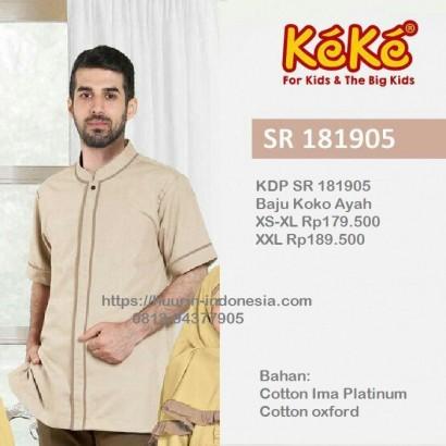 Baju Muslim Koko Keke KD SR 181905 Krem