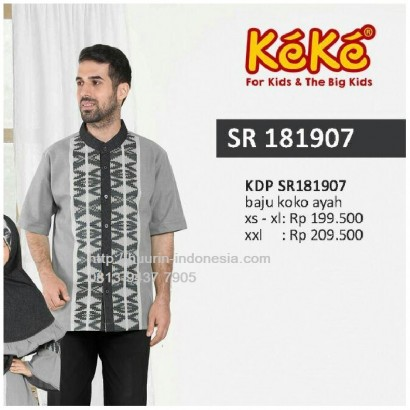 Busana Muslim Pria Koko Keke KDP SR 181907 Abu