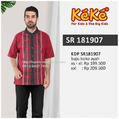 Busana Muslim Pria Koko Keke KDP SR 181907 Merah