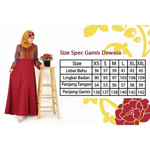 Busana Muslim Wanita Gamis Keke GDK SR 20 01 Maroon