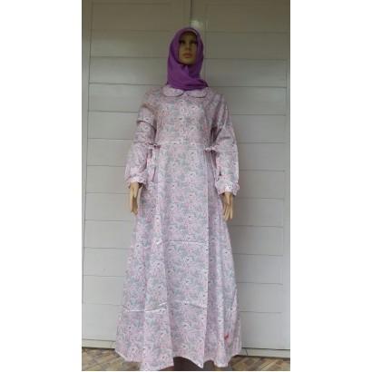 Nibras Gamis Syar'i NS09 Pink
