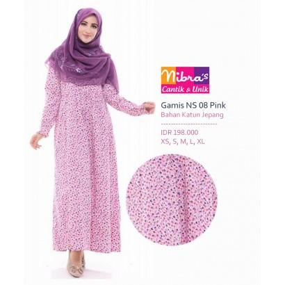 Nibras Gamis Syar'i NS08 Pink