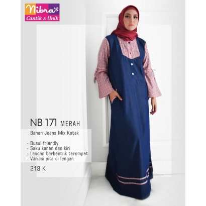 Gamis Nibras NB171 Merah