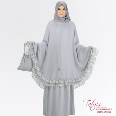Mukena Tatuis Tiara 234 Abu
