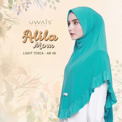 Hijab Instan Alila Bergo Mom by Uwais Hijab - Light Tosca