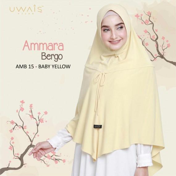 Hijab Instan Ammara Bergo by Uwais Hijab - Baby Yellow
