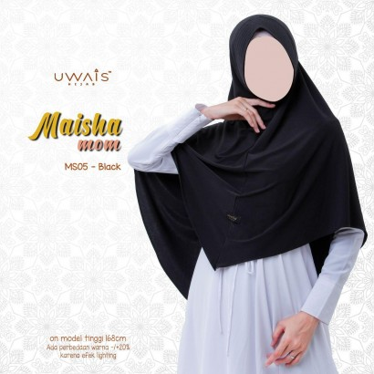 Jilbab Instan Maisha Bergo By Uwais Hijab-Hitam
