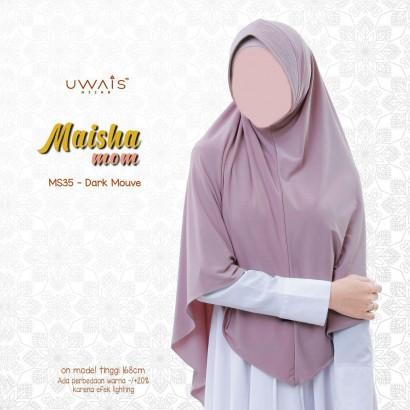 Kerudung Instan Maisha Bergo By Uwais Hijab-Dark Mauve