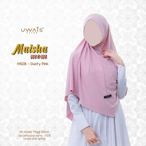Jilbab Instan Maisha Bergo By Uwais Hijab-Dusty Pink
