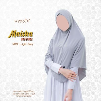 Jilbab Instan Maisha Bergo By Uwais Hijab-Light Grey