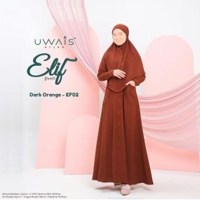Gamis Elif Dress by Uwais Hijab - Dark Orange