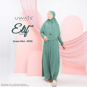 Gamis Elif Dress by Uwais Hijab - Green Mint