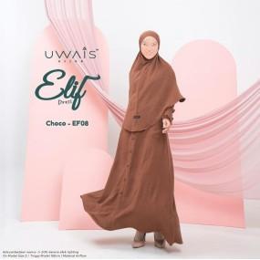 Gamis Elif Dress by Uwais Hijab - Choco