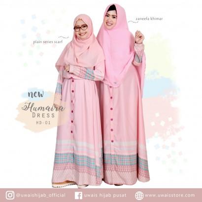 Uwais New Humaira Dress Pink