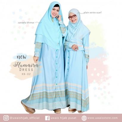 Uwais New Humaira Dress Biru