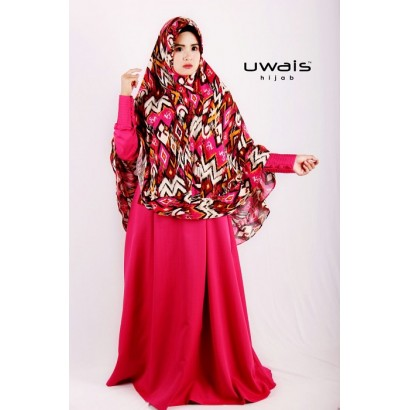Uwais Khadijah Dress Pink Tua
