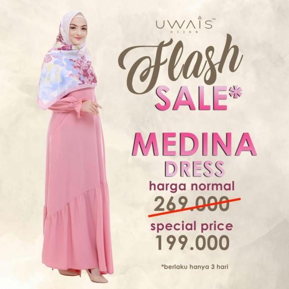 Baju Muslim Gamis Medina Dress by Uwais Hijab - Pink