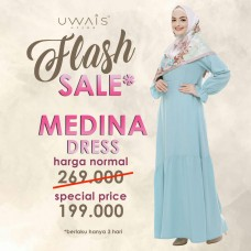 Baju Muslim Gamis Medina Dress by Uwais Hijab - Tosca