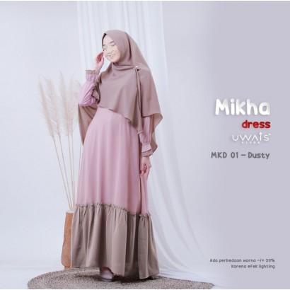 Gamis Mikha Dress by Uwais Hijab - Dusty