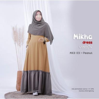 Gamis Mikha Dress by Uwais Hijab - Peanut