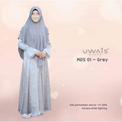 Gamis Mulan Dress by Uwais Hijab - Grey